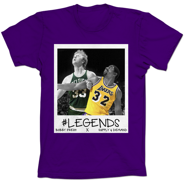 Magic and Bird Respect Purple Tee