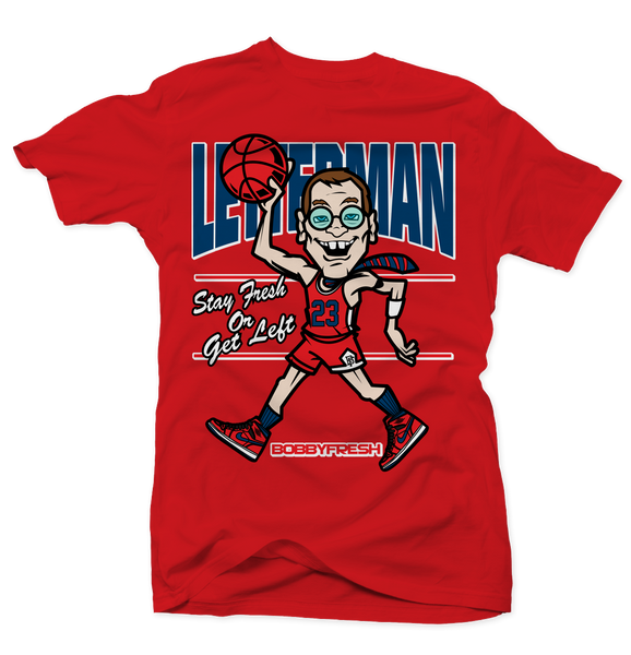 Letterman Red Tee