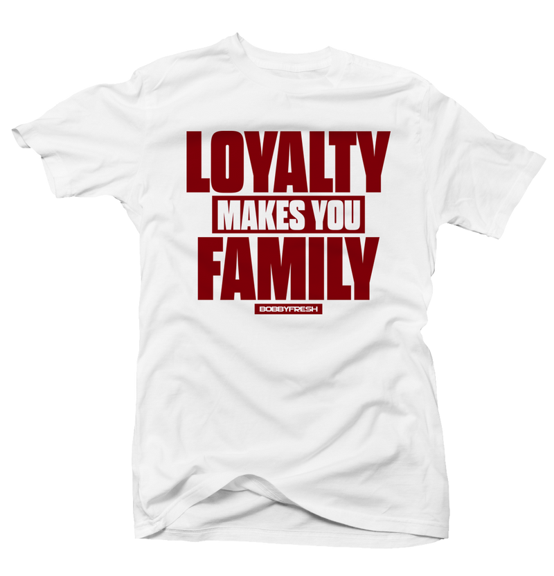 Loyalty Wht/Red Tee - Bobby Fresh