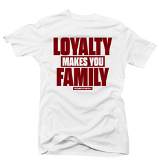 Loyalty Wht/Red Tee