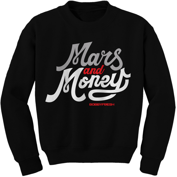 Mars Fresh Black (Black Cement) Crewneck