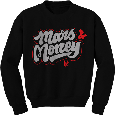 Mars Fun Black Cement Crewneck