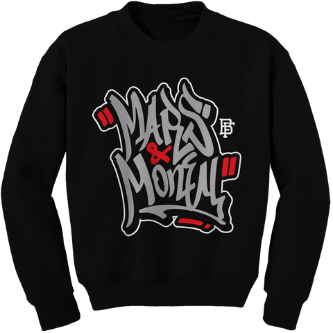 Mars Graffiti Black (Black Cement) Crewneck