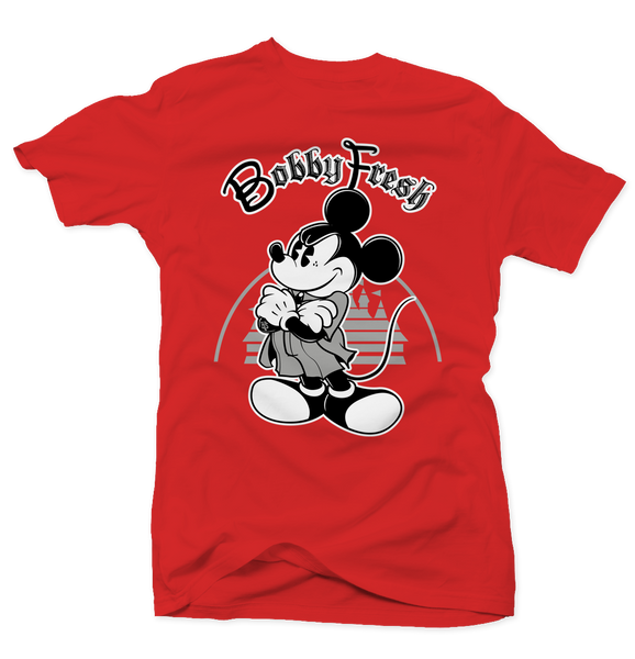 Mickey Red (Black Cement) Tee