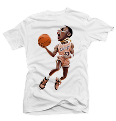 MJ 85 White Tee (Crimson Tint)