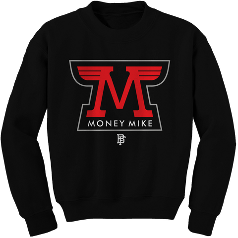 Money Wings Black (Black Cement) Crewneck