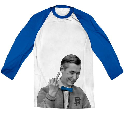 Be My Hater Sport Blue Raglan