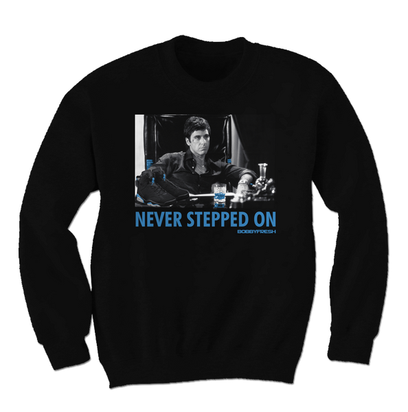 Never Stepped on Unc Black Crewneck Sweater