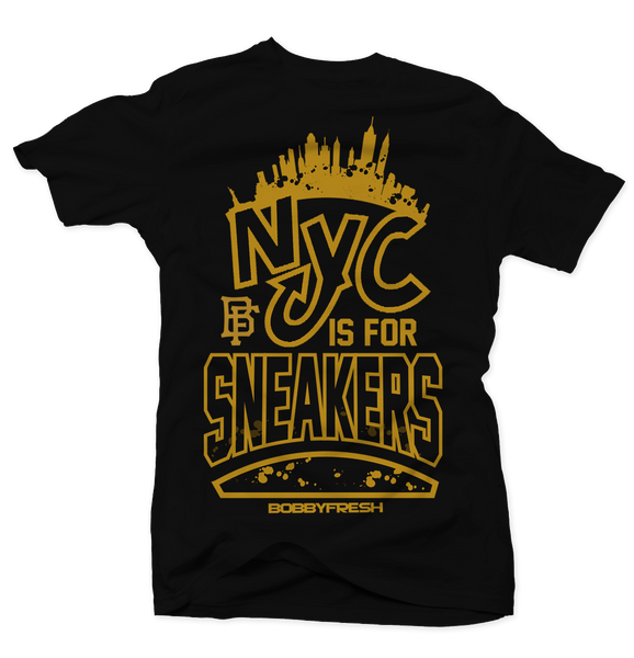Nyc is for Sneakers Black Tee
