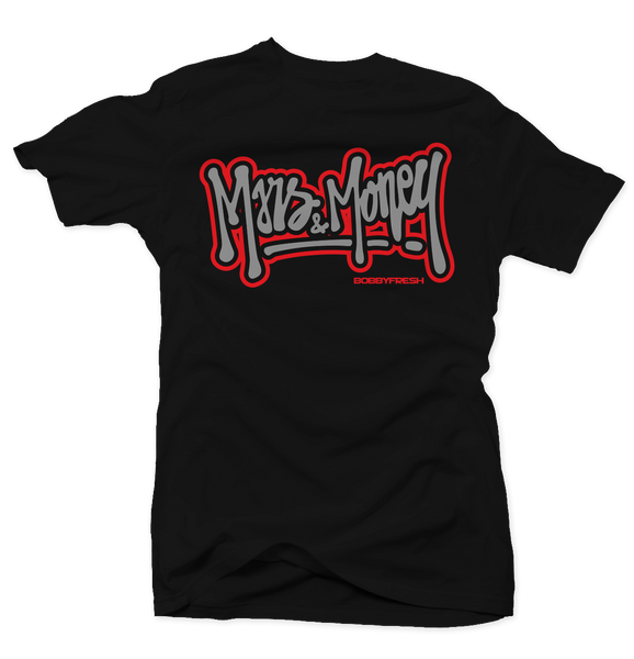 Money Wings Black Cement Tee