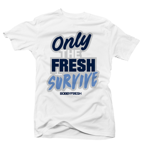 detailed pictures 7007b e4d59 Only the Fresh Survive White Tee