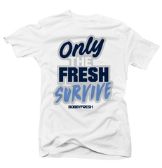 Only the Fresh Survive White Tee