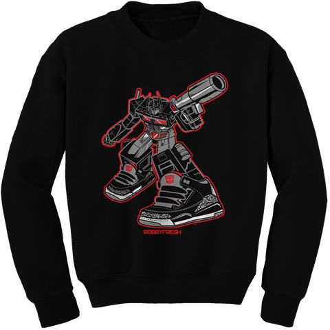 Optimus Black Cement Crewneck