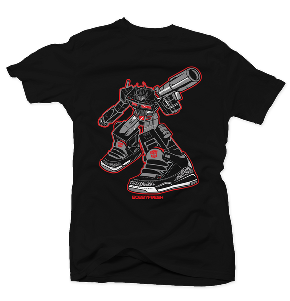 Optimus Black Cement Tee