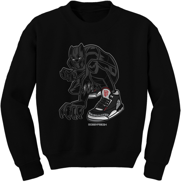 Panther Black Cement Crewneck - Bobby Fresh