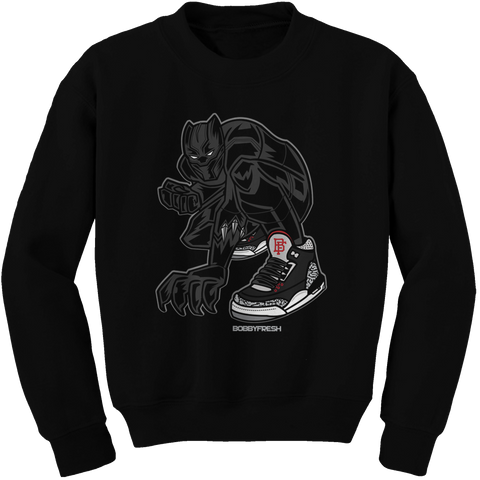 Panther Black Cement Crewneck