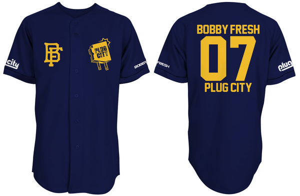 Bobby Fresh x Plug City Collab Blue Baseball Jersey