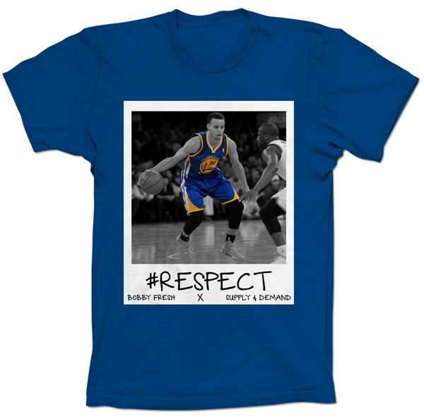 Curry Respect Blue Tee