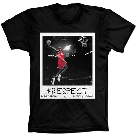 Lebron Respect Black Tee