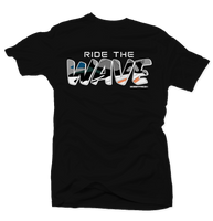 Ride the Wave Black Tee - Bobby Fresh