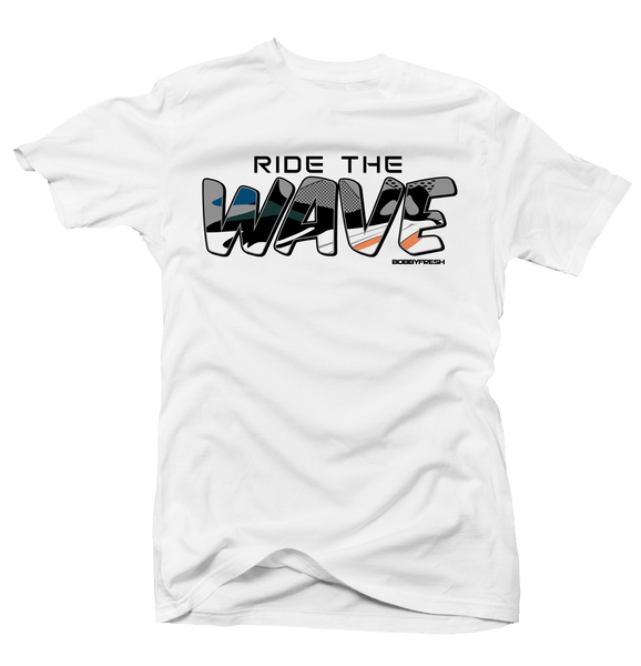 Ride the Wave White Tee