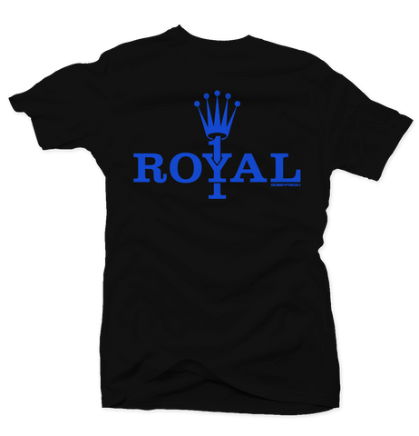 Royal 1 Black Tee