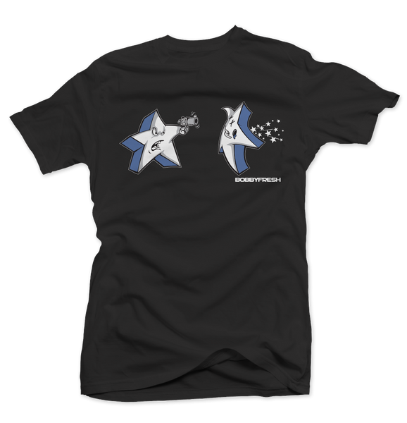 Shooting Stars Black Tee