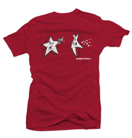 Shooting Stars Red/Carmine Tee