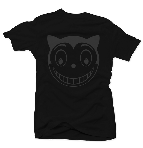 Smiley Cat Black Tee - Bobby Fresh