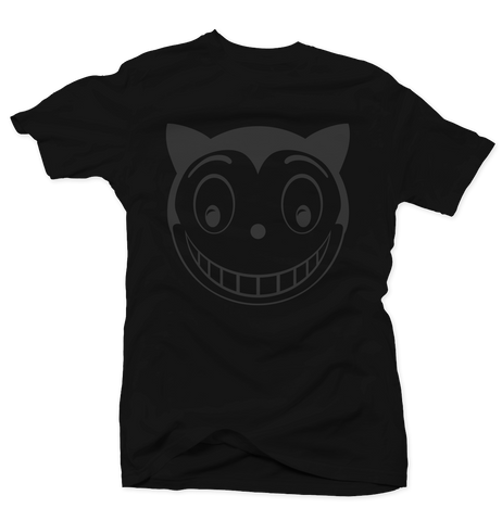 Smiley Cat Black Tee