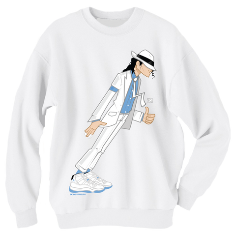 Smooth Criminal White Crewneck