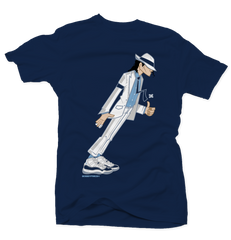 Smooth Criminal Navy Tee