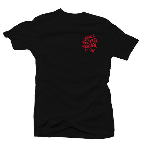Sneaker Head Social Club Black/Red Tee