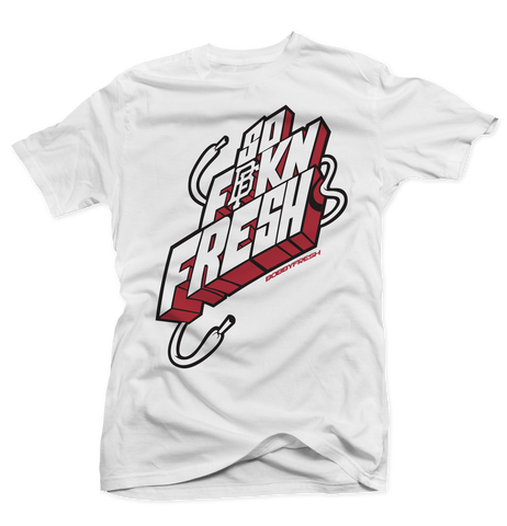 So Fresh White/Carmine Tee