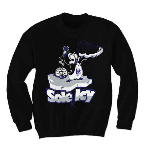Sole Icy Space Jam Black Crewneck