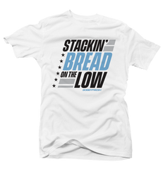 Stackin' Bread Unc 3 White Tee