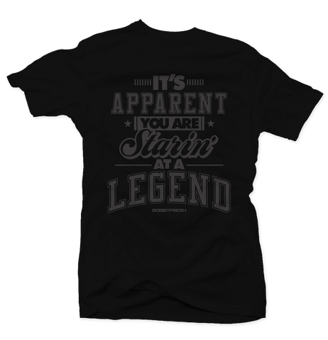 Starrin at a Legend Pinnacle 5 Black Tee