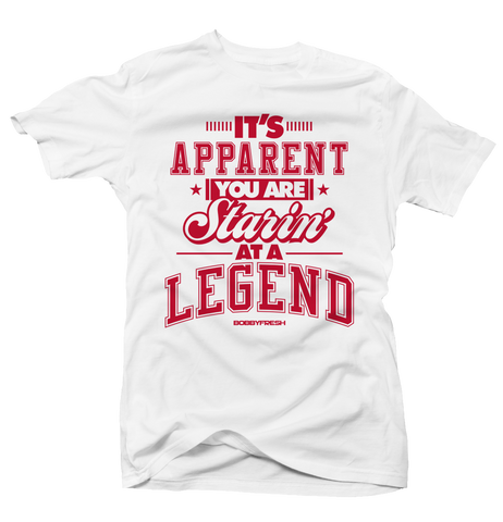 Starin At a Legend History of Flight White Tee