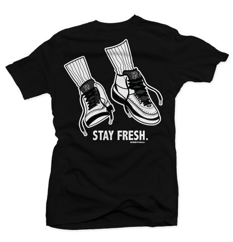 Stay Fresh Black Tee