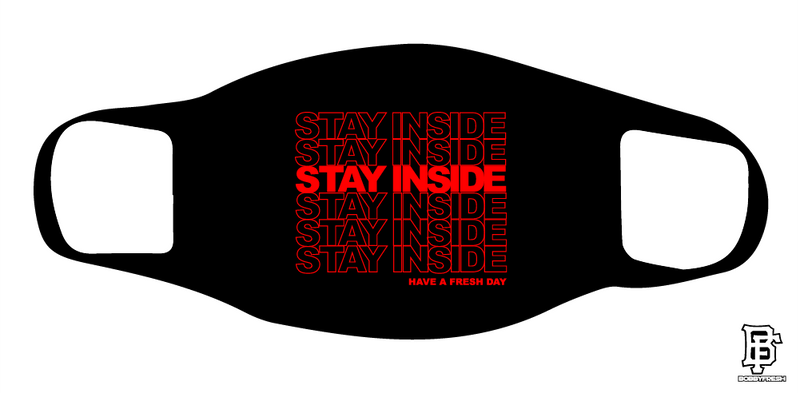 Stay Inside Black/Red Mask - Bobby Fresh