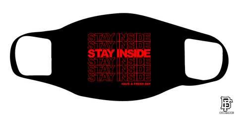 Stay Inside Black/Red Mask