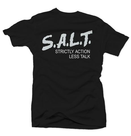 Strictly Action Black Salt Tee
