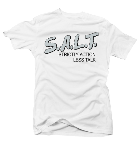 Strictly Action White Salt Tee