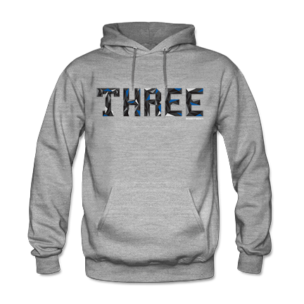 Trifecta Sport Blue Heather Grey Hoodie