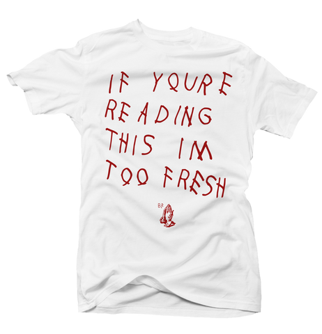 Too Late White/Red Tee