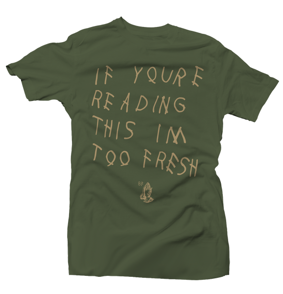 Too Late Army Green/Tan Tee