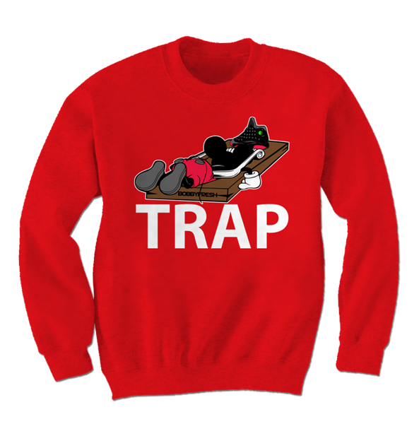 Trap Dirty Bred 13 Red Crewneck