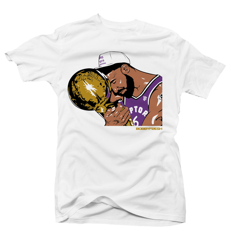 Trophy White/Purple Tee