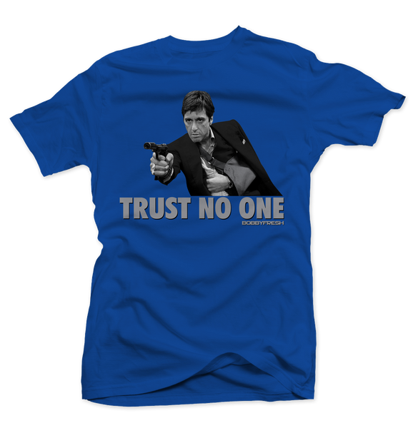 Trust No One (Blue Suede) Tee - Bobby Fresh