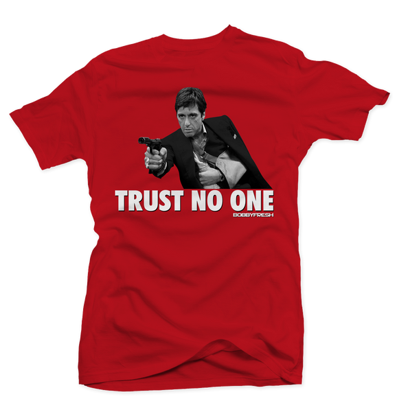 Trust No One (Fire Red) Tee - Bobby Fresh